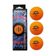 Donic 3 Star ITTF Approved Table Tennis Ball Orange Set of 3 Balls