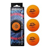 Donic 3 Table Tennis Ball Orange Set of 3 Balls