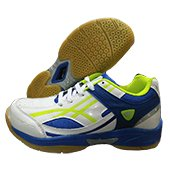 ESS Pro Badminton Shoe White and Blue