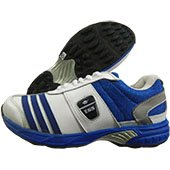 ESS Mid Stud Cricket Shoes White and Blue