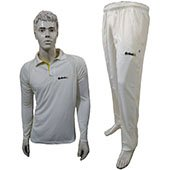 Excellents Cricket Clothing Full Sleeves White T Shirt and Lower Size Large
