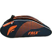 FALX N Curve Badminton Kit Bag Navy blue and Orange
