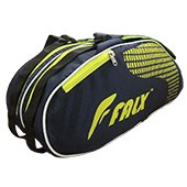 FALX N Curve Badminton Kit Bag Navy blue and Lime
