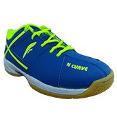 Falx N Curve Badminton Shoe Blue and Lime