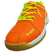 Falx N Curve V1 Badminton Shoe Orange and Lime
