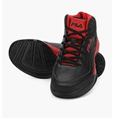 Fila Gunner Black and Red Basketball shoes