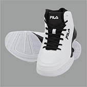 Fila Gunner White and Black Basketball shoes