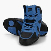 Fila C Cut Black and Blue Basketball shoes