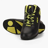 Fila Zoom On Black and yellow Basketball Shoes