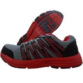FILA Manlio Running Shoes Gray, Red and Black