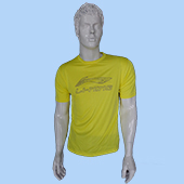 LiNing T Shirt Round Neck with Half sleeve Yellow Size Large Lifestyle