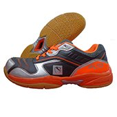 Gravity 89 LTD  Badminton Shoe Orange and Gray