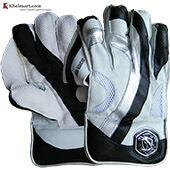 Gravity Limited Edition Wicket Keeping Gloves White and Black