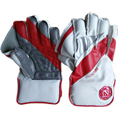 Gravity Signature Wicket Keeping Gloves White and Red