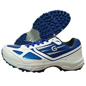 Gravity Grab Stud Cricket Shoes White and Blue