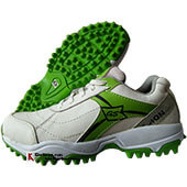 Gravity Passion Stud Cricket Shoes White and Green