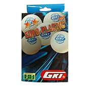 GKI Euro Plastic 40 Plus Star Table Tennis Ball Set of 12 Balls