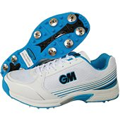 GM Maestro Multi function full Spikes Cricket Shoes White and Blue