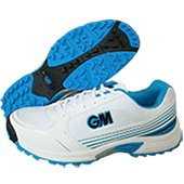 GM Maestro All Rounder Stud Cricket Shoes White and Blue