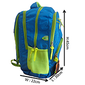 Grace Blue and Lime Casual Backpack