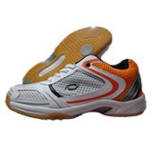 HDL Badminton Shoe Top Orange and White