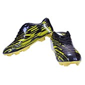 HDL Warrior Football Stud Shoes Black and Yellow