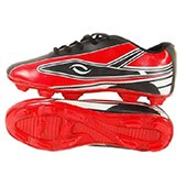 HDL Velocity Football Stud Shoes Black and Red