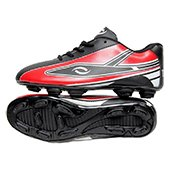 HDL Trax Football Stud Shoes Black and Red