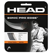 Head Sonic Pro Edge 1.25 1.30mm Charcoal 12m Tennis String
