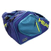 Head Core 6R Combi Tennis Kit Bag Blue and Yellow
