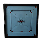 Hitx Coloured Carrom Board Large 32 Inch (Sky Blue)