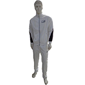 Invincible Poly Tricot Warm Up Suit Larze White