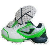Jazba Sky Drive 100 Stud Cricket Shoes Flash Green