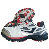 Jazba Sky Drive 117 Full Spike Cricket Shoes Navy and Red