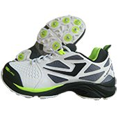Jazba Sky Drive 117 Full Spike Cricket Shoes Black and Lime