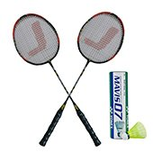 Yonex Mavis 07 Shuttlecock and Set of 2 Jetax Pro 6003 Badminton Racket Jointless Set