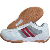 KUAIKE  Badminton Shoe White Gray and Red