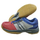 KUAIKE Article No 4013 Badminton Shoe Red Gray and Blue