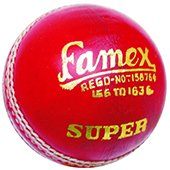 Khanna Famex Super Leather Cricket Ball 12 Ball Set