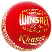 Khanna Winsrex Leather Cricket Ball 3 Ball Set