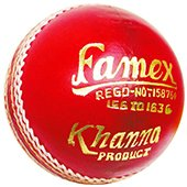 Khanna Famex Leather Cricket Ball 6 Ball Set
