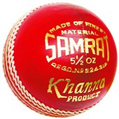 Khanna Samrat Leather Cricket Ball 3 Ball Set