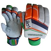 Kookaburra Royale Custom Cricket Batting Gloves RH White Orange and Green