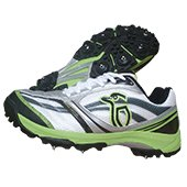 Kookaburra Pro 1200 Full Spike Cricket Shoes White and Green