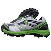 Kookaburra 1000 Full Spike Cricket Shoes White and Green