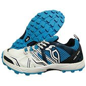 Kookaburra Pro 1500 Rubber Stud Cricket Shoes White and Blue