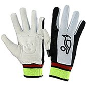 Kookaburra Chamois Padded Wicket Keeping Inner Gloves Black and White