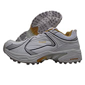 Kanton Pro 40 stud Cricket Shoes White and yellow