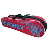 Konex Badminton Kit Bag Red and Black