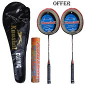 Offer on Two Kaushal Cosmic Badminton Racket and one shuttle cocK
